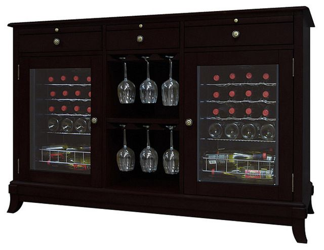 Vinotemp - Cava 36-Bottle Wine Credenza, Espresso traditional-beer-and-wine-refrigerators