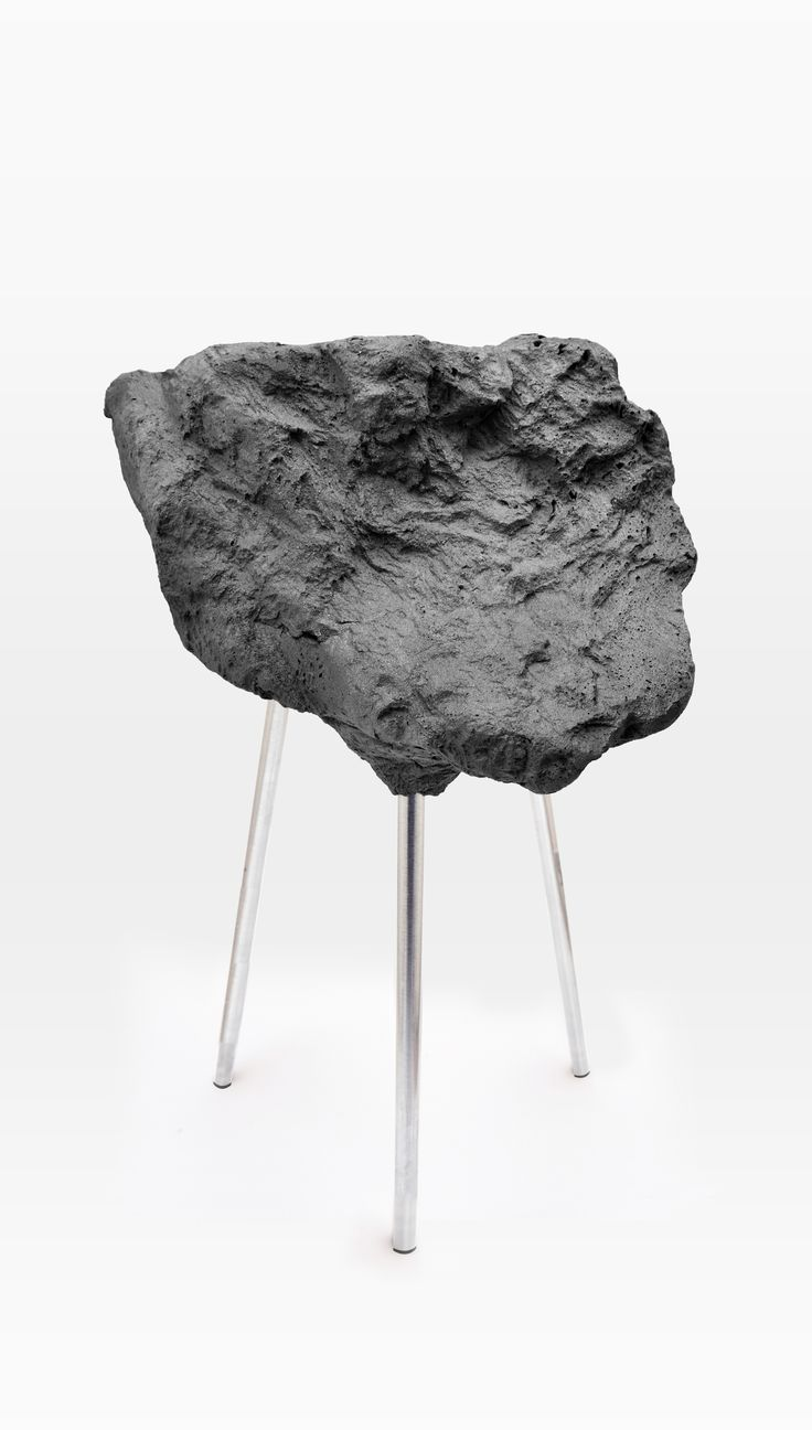Stone Foam Stool: a stool with a hard look, which is unexpectedly soft.