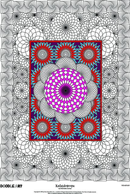 Doodle Art Kaleidoscope Coloring Page Poster by Doodle Art Posters, via Flickr