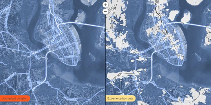 Map Shows Where Sea Level Rise Will Drown American Cities   Charleston, SC.    Credit: Proceedings of the National Academy of Sciences   From Wired.com