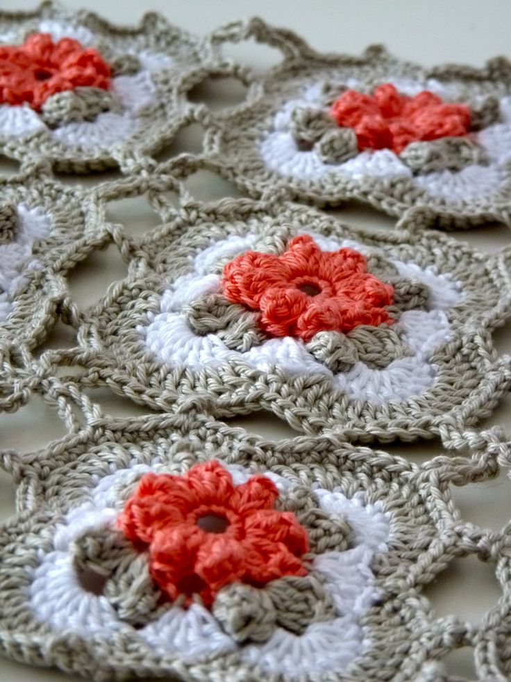 Blanket made from flowered granny squares