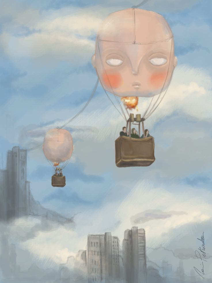 """mongolfiere"" digital painting"