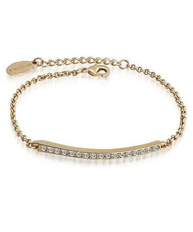 This Crystal & Gold Bar Bracelet Made With SWAROVSKI ELEMENTS is perfect! #zulilyfinds