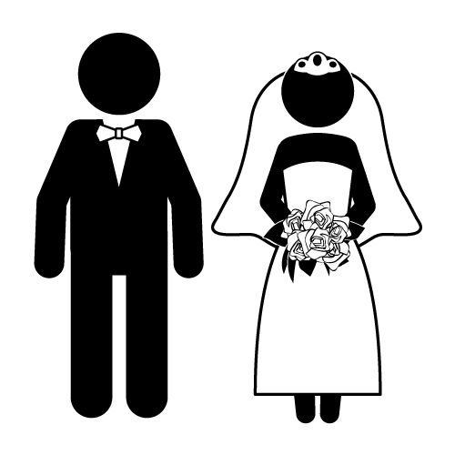 Bride And Groom Funny Clipart - Clipart Kid in 2019 ...