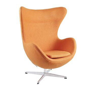 LexMod Arne Jacobsen Egg Chair in Orange #affiliate