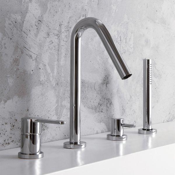 http://www.sdebain.com/robinets/robinetterie-baignoire/robinets-3-4-trous/mitigeur-baignoire-3-trous-klab-bec-col-cygne-et-douchette