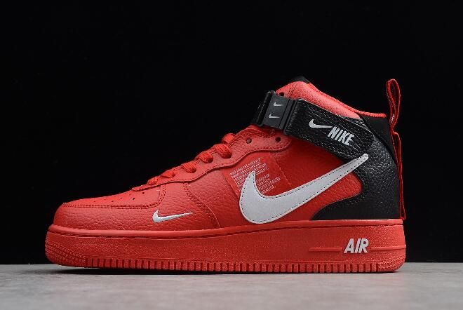 61a4bdc8b53 Nike Air Force 1 Mid  07 LV8 University Red White-Black-Tour Yellow 804609 -605