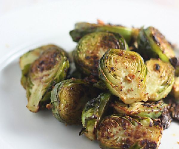 Mustard Garlic Brussels Sprouts {Whole30