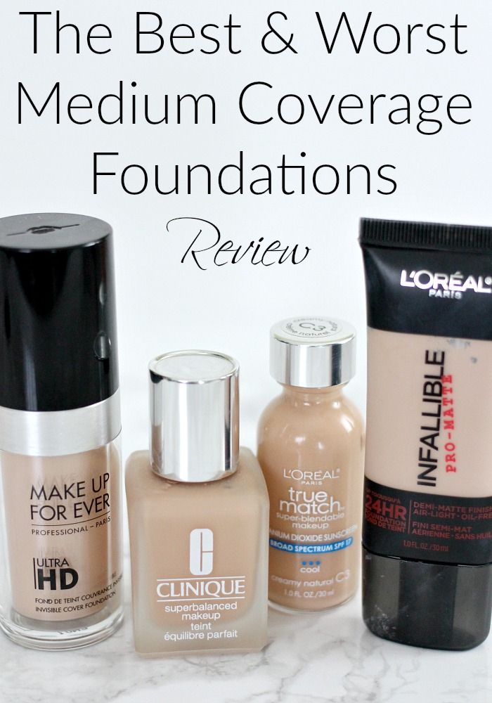 The Best Amp Worst Medium Coverage Foundations Review