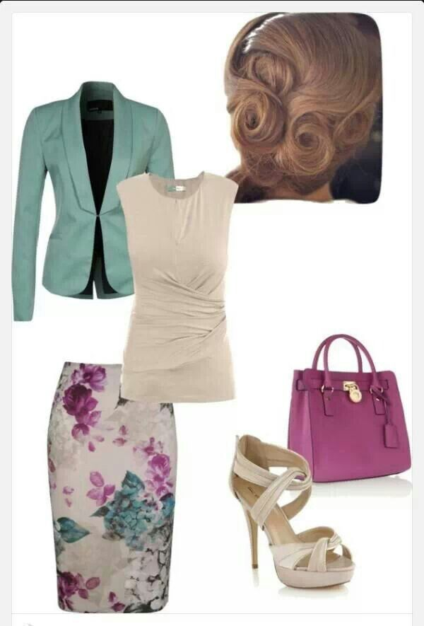 What a pretty color combo! I'd wear these flowers - normally I don't like floral prints.