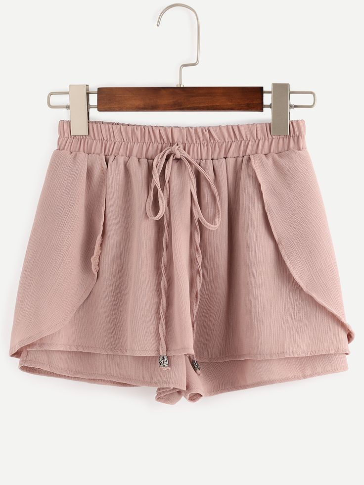 Shop Pink Drawstring Waist Wrap Shorts online. SheIn offers Pink Drawstring Waist Wrap Shorts & more to fit your fashionable needs.