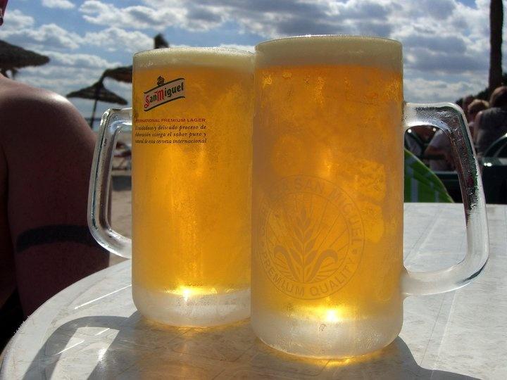 Geen ijskoud biertje op een hete zomerdag...