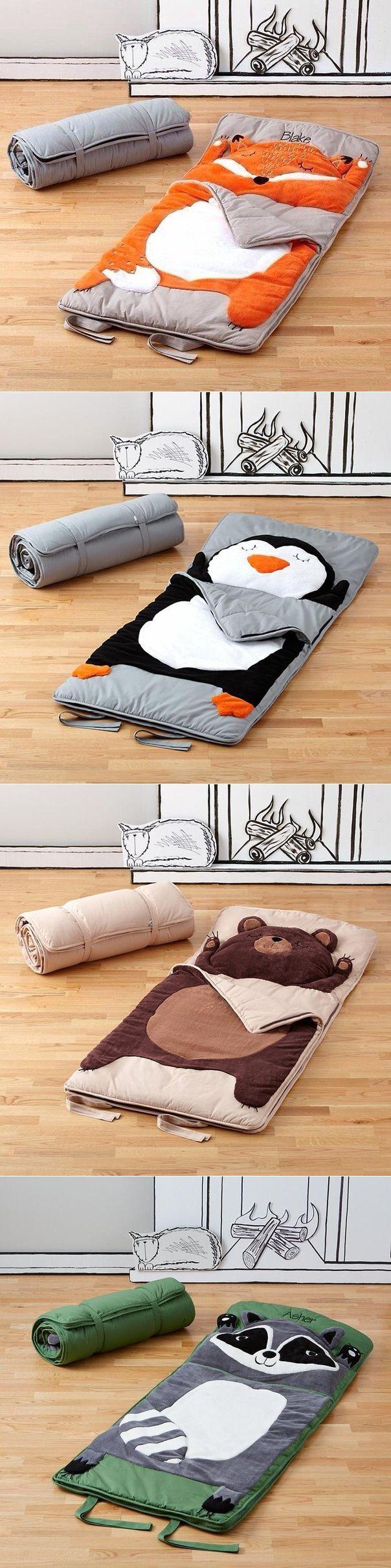 Cute sleeping bags.  Penguin for Thalia.