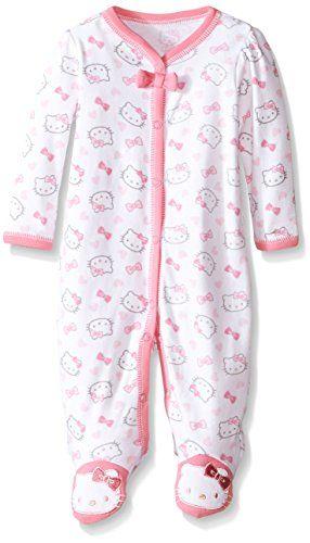 Hello Kitty Baby Allover Print Coverall Newborn, Bright W...