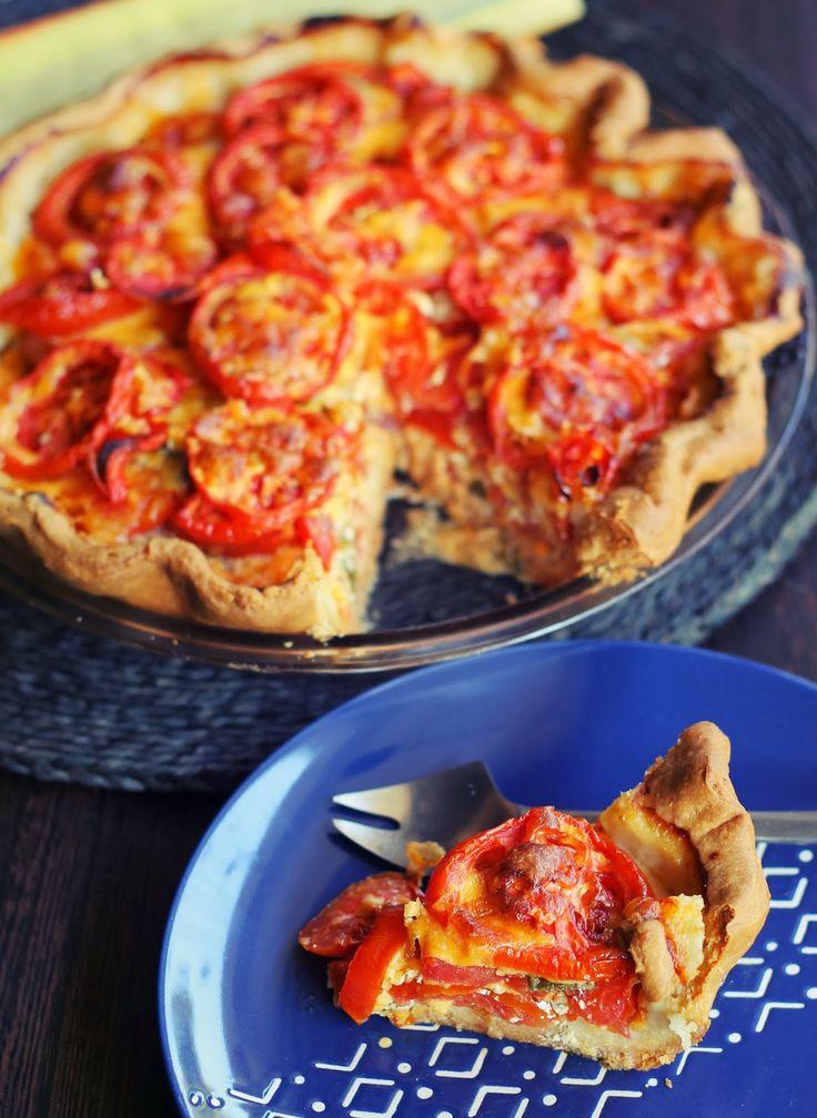 Tomato and Cheddar Pie | Yum-E | Pinterest