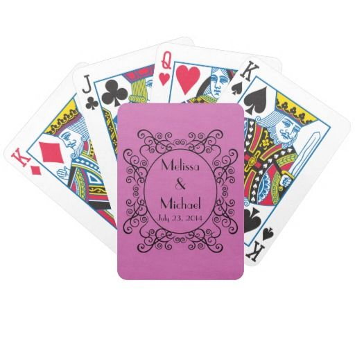 Customize these playing cards and give as a gift to family and friends.