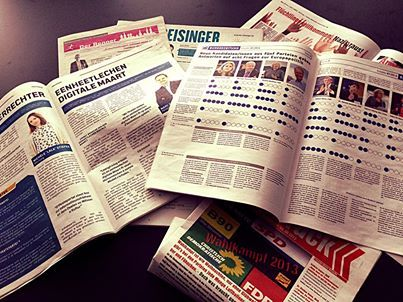 Zeitungen für den #Wahlkampf. #Europawahl #Kommunalwahl