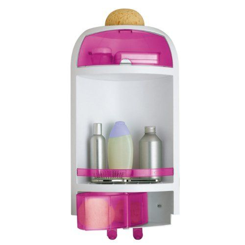 Gedy Pink Wall Mounted Corner Shower Caddy 2880-46 by Gedy. $51.00. Decorative shower basket.. Shower caddy for a trendy bathroom.. Made by Gedy in Italy.. Extremely high quality thermoplastic resins, coated with pink.. A sensible piece for a decorative or contemporary bathroom, this shower basket is the perfect option. Designed and built in italy with extremely high quality thermoplastic resins and available in pink, this shower caddy is part of the Gedy Complement...