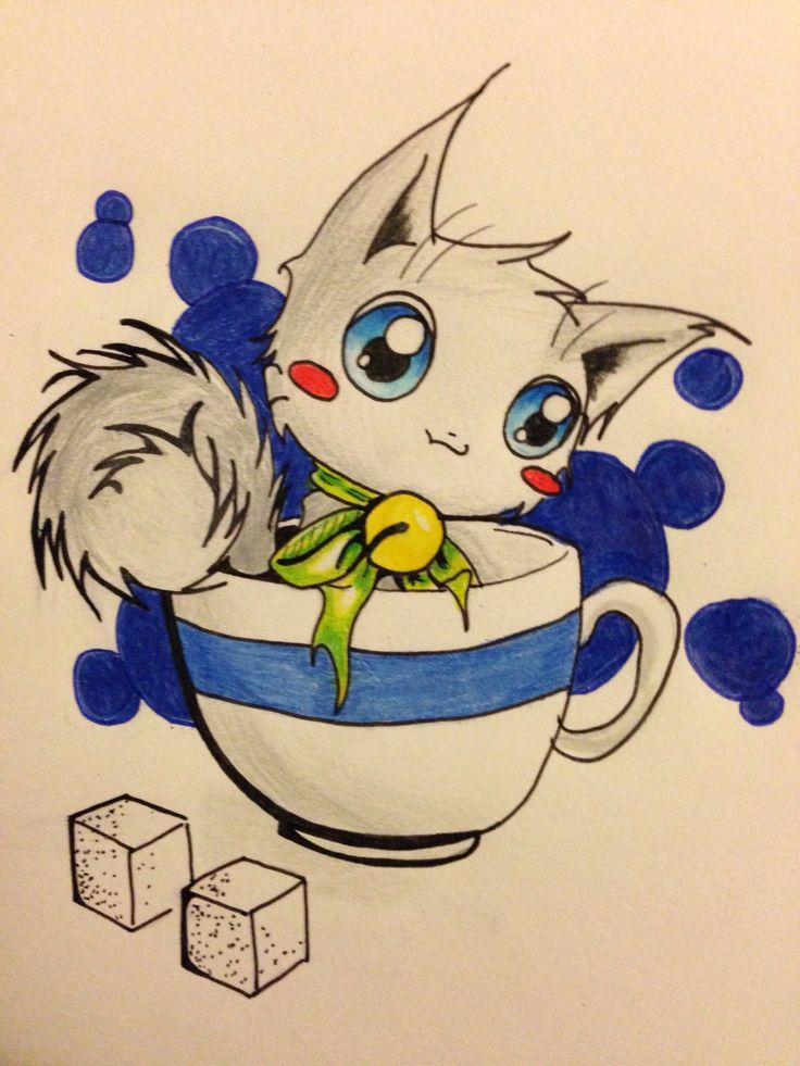 Kitty in a cup =^_^=