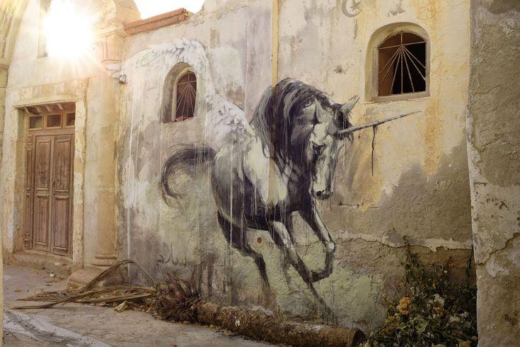"Faith47 ""Hunt Her"" New Street Piece - Djerba, Tunisia"