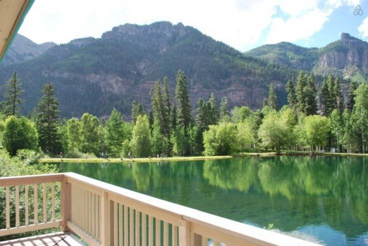OURAY CO  |  View of San Juan Mountains from Lakefront deck