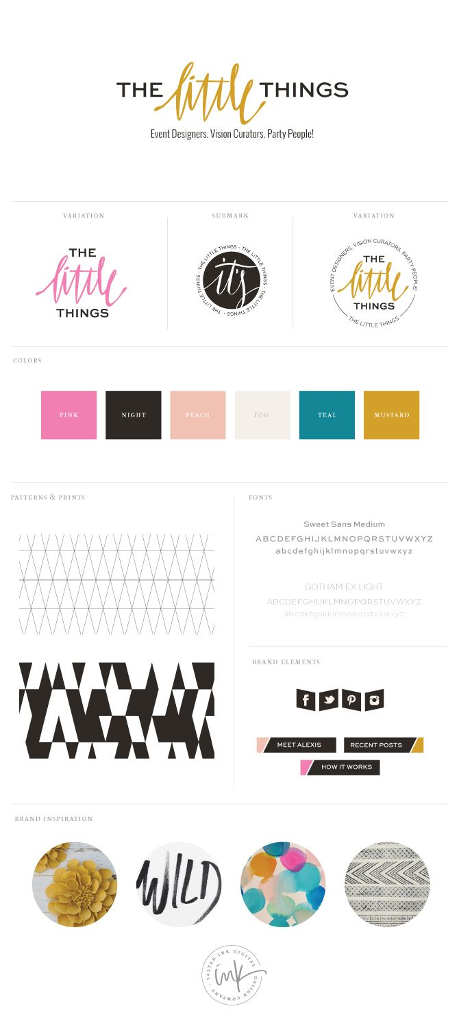 The Little Things - love this branding by salted ink