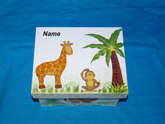 Hand Painted Baby Boys Keepsake BOX by EssenceOfTheSouth on Etsy, $110.50