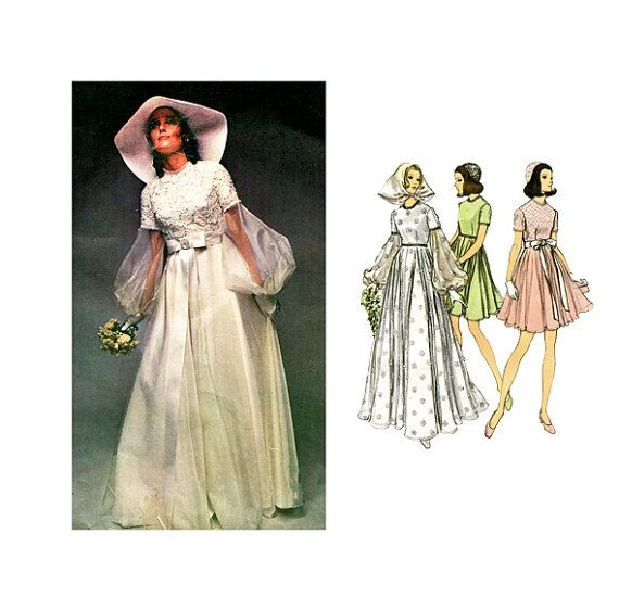 1000+ Images About 1970s Wedding Dress Patterns On