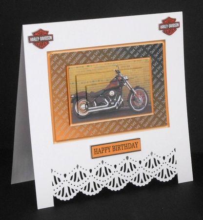 Harley Davidson Pyramid - Any Occasion Card by Joan Prince