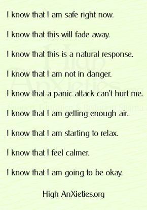 I know... panic attacks