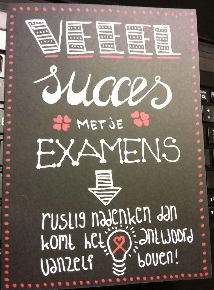 Lettering good luck examen