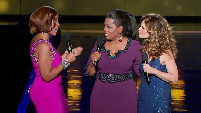 Gayle King and Maria Shriver on Oprah's Farewell Spectacular