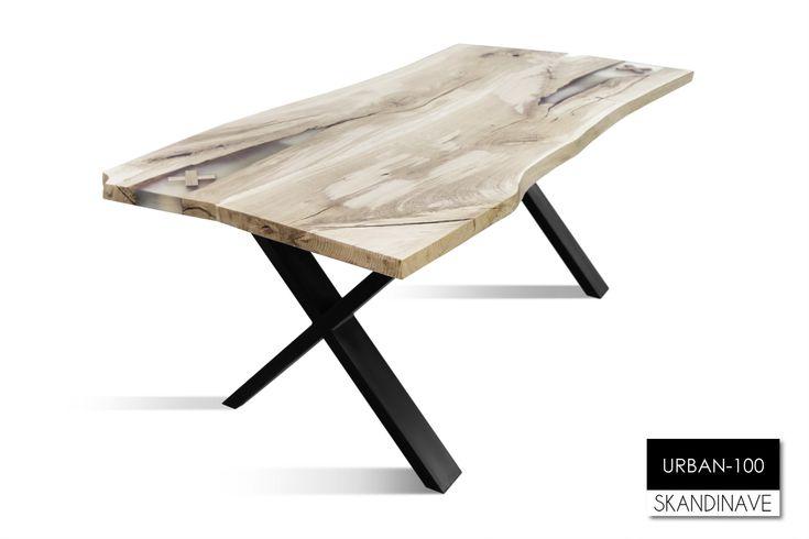 Надежный и красивый стол из дуба. Мебель от Skandinave с гарантией качества.