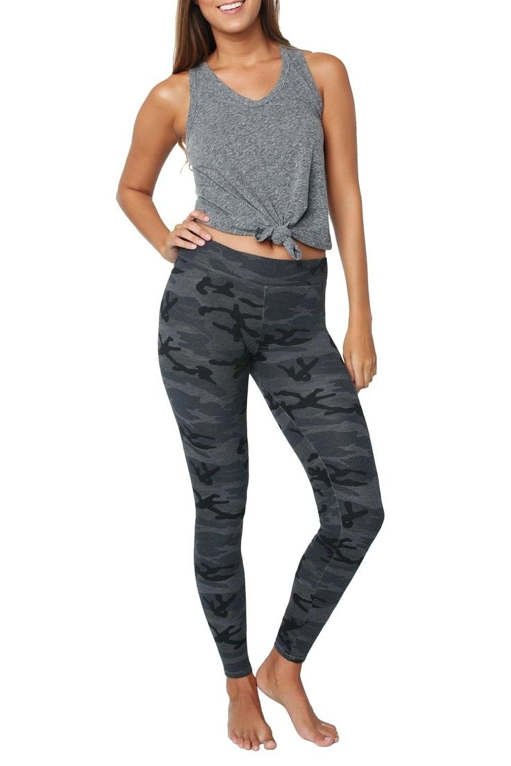 The ultimate comfy cozy slim-fit legging in the coolest camo print and made from the softest stretch cotton.   Black Camo Yoga Pant  by Sundry. Clothing - Activewear - Pants Florida