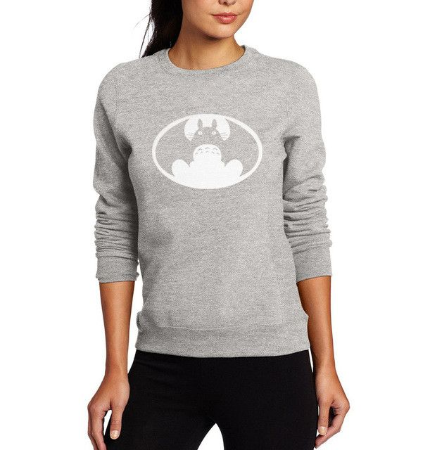 Totoro hoodies VS batman hoodies mashup harajuku Unisex anime brand clothing Men Women Graphics Design sweatshirt tracksuit mma