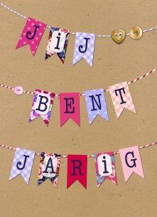 Verjaardagskaart vrouw - slinger-jij-bent-jarig