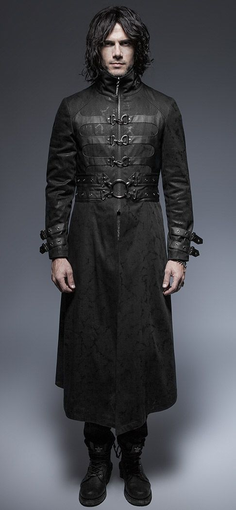 Nouveau produit : Long manteau noir homme ŕ boucles vampire gothique médiéval Punk Rave Vous aimez ? / New product do you like ? Prix: 149.90 #new #nouveau #japanattitude #vestes #manteaux #gothique #gothic #medieval