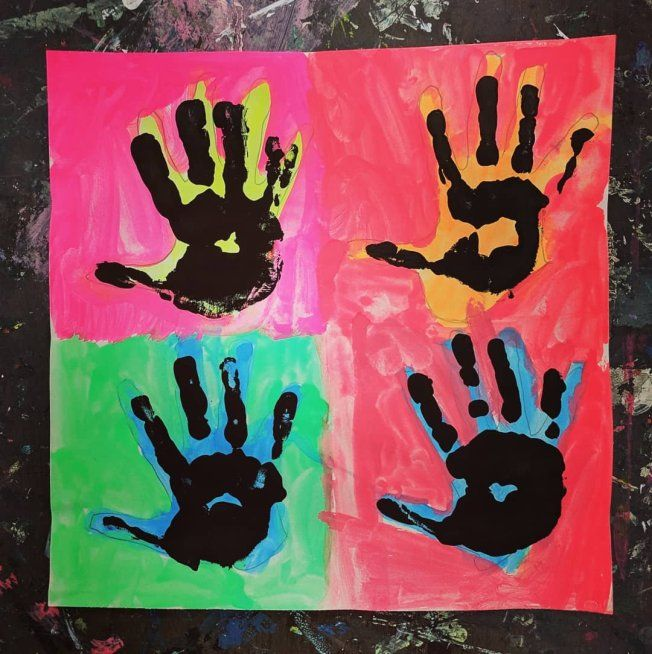 Andy Warhol Hand Prints Black History Month Crafts Andy Warhol Art Warhol Art Black history art for preschoolers