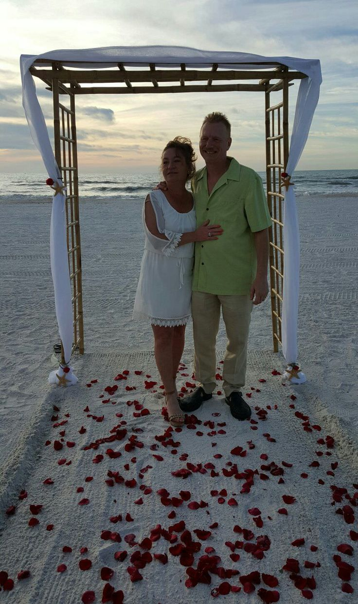 Beach weddings fort walton beach wedding packages sunset beach - Clearwater Beach Sunset Wedding Ceremony Non Denominational Wedding Wedding Package With Bamboo Arbor