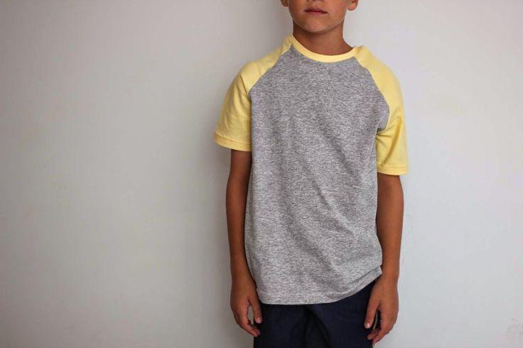 T shirt gele stof