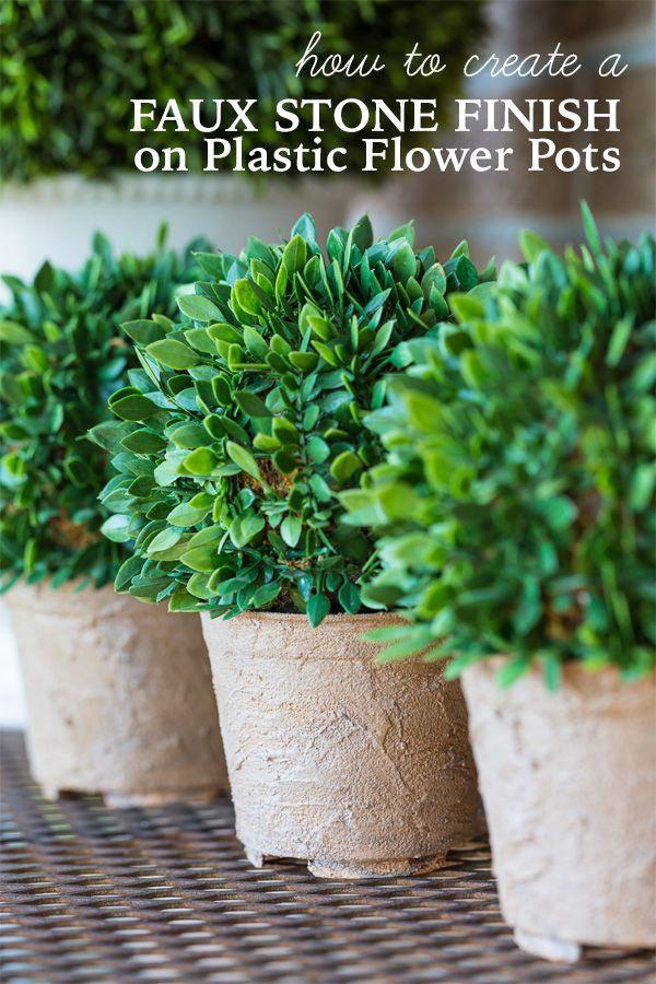 Plastic Planter Flower Pots, How To Make Outdoor Plastic Plant Pots Look Nice