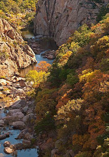 West Cache Creek Canyon, Wichita Mountains, Oklahoma. Photo by snsokstan.