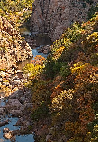 West Cache Creek Canyon, Wichita Mountains, Oklahoma. Photo by snsokstan.