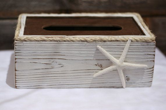 17 best ideas about rustic tissue box holders on pinterest half bathroom decor cotton decor - Beach themed tissue box cover ...
