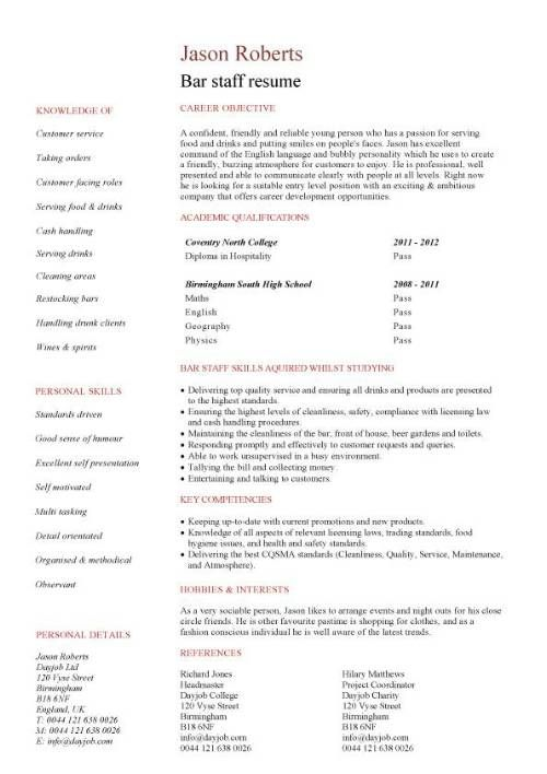 ... Sample Resume For A Restaurant Job   Http\/\/wwwresumecareerinfo   Restaurant  Worker ...  Restaurant Worker Resume