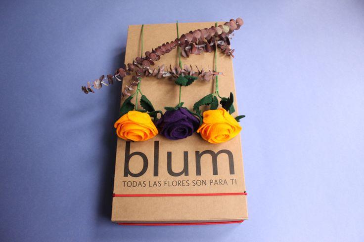 Caja de Rosas hechas a mano en fieltro Cel o Whatsapp 3105802725 http://www.blum.com.co/cajas_de_rosas #blum #fieltro #rosas #hechoamano