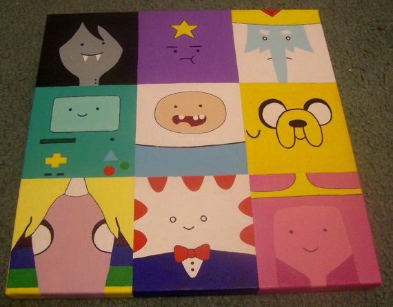 Adventure Time Character Grid Painting
