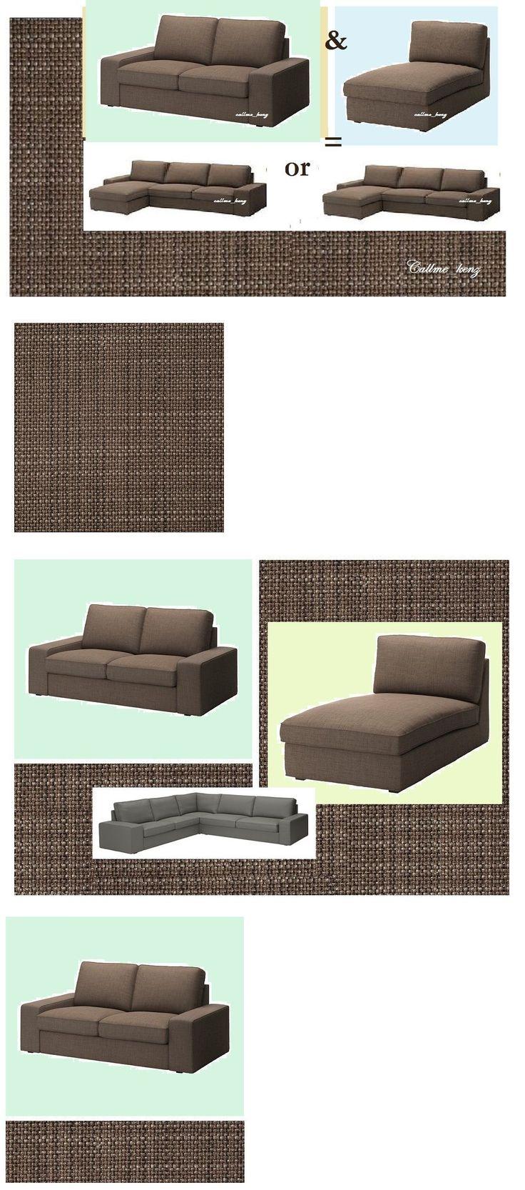Custom ikea dining chair cover now available via comfort works - Slipcovers 175754 Ikea Kivik Loveseat 2 Seatandchaise Isunda Brown Sectional 3 Seat