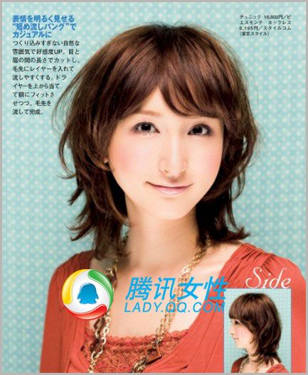 medium length hairstyles japanese mid length japanese permed hairstyle ... Images - Frompo