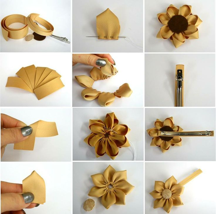 189 best rosettes images on pinterest fabric flowers paper how to make your custom pretty ribbon hairpin step by step diy tutorial instructions solutioingenieria Image collections
